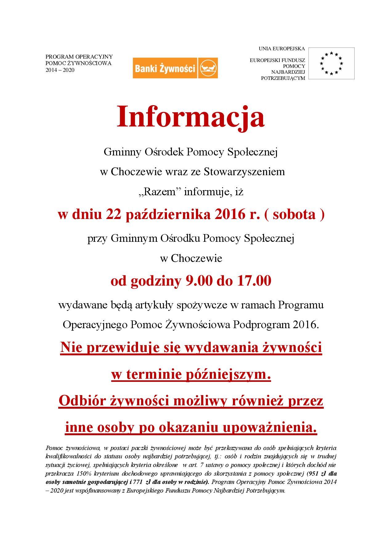 informacja-o-wydawaniu-zywnosci-pazdziernik-2016